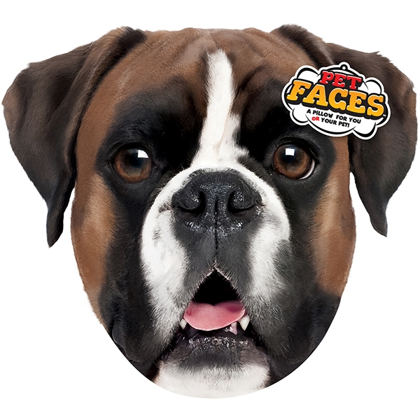 Pet Faces Boxer Cushion