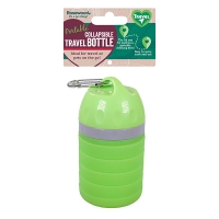Portable collapsible travel bottle