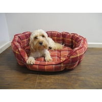 Spiced Wine Check Oval Bed