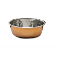 Hammered Copper Pet Bowl