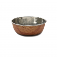 Wood Effect Steel Pet Bowl