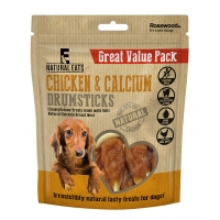 Chicken & Calcium Drumsticks Dog Treats Value Pack 350g