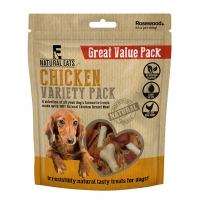 Chicken Variety Pack Dog Treats Value Pack 320g