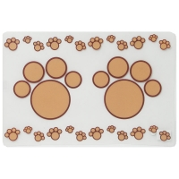 Clear/ Beige Paw Placemat